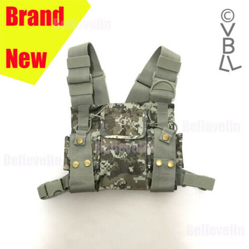 Chest Harness Bag Front Pack Pouch Holster Vest Rig For Baofeng Motorola radio