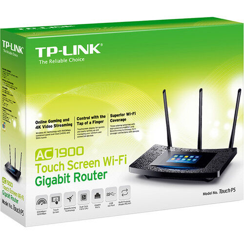 TP-LINK Dual-Band Wireless-AC1900 Touch Screen Gigabit Router Touch P5