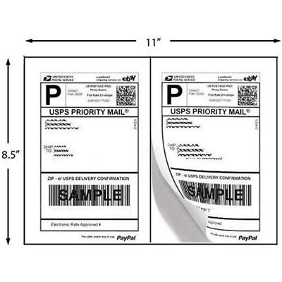 Superior Quality Mailing Shipping Labels 8.5x5.5 Half Sheet Self Adhesive Blank