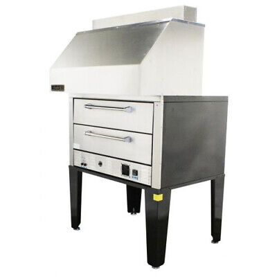 Naks Double Deck Pizza Oven W Ventless Hood 50 3ph - Fire Suppression Included