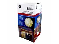 Brand New GE 2 pack Super Bright LED spheres (Staybright)