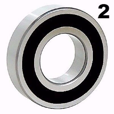 Two 2 6203-2rs Sealed Bearings 17x40x12 Ball Bearing Pre-lubricated