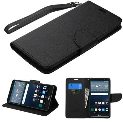 - For LG G Stylo BLACK Flip Leather Wallet Card Case Cover Stand Protective Magnet