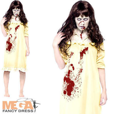Exorcist Halloween Costumes (Sinister Dreams Exorcist Ladies Halloween Fancy Dress Zombie Womens)