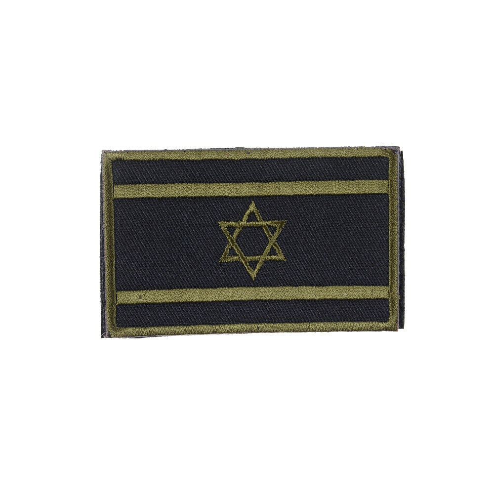 Israel Flag Embroidered Skull Military Army Morale Hook Patch Badge Armband E&F