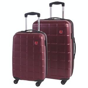 Swiss Gear 2-Pc HardSide 4-Wheel Luggage-Burgundy-NEW IN BOX