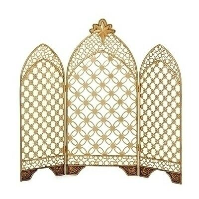 Gold Metal Triptych Back Drop by Roman Inc. ~~ For Nativity Set ~~ NEW
