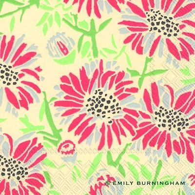 Emily Burningham Daisies Paper Lunch Napkins NEW