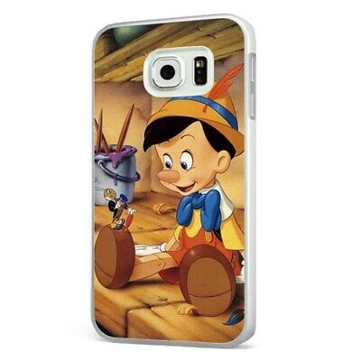Pinocchio Jiminy Cricket Disney WHITE PHONE CASE COVER for SAMSUNG GALAXY