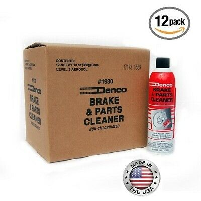 Brake Parts Cleaner - 13OZ Can - Pack of 12- FREE SHIPPING - Denco