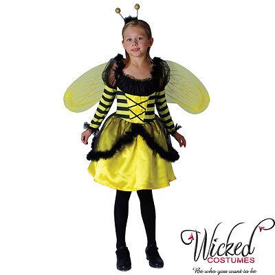 BUSY BUSY BEE COSTUME GIRLS FANCY HALLOWEEN SMALL AGE 3-4  COSTUME - Busy Bee Halloween Costume