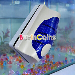 Magnetic aquarium fish tank cleaning brush glass algae for How to remove algae from fish tank glass