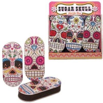 Streamline Sugar Skull Emory Board Set of 3  FREE US SHIPPING - Emory Boards