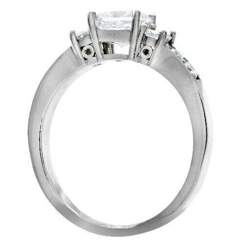 GIA Certified Diamond Engagement Ring 1.50 CTW Princess Cut 14k White Gold 1