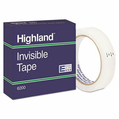 Invisible Permanent Mending Tape 34 X 2592 3 Core Clear Mmm6200342592
