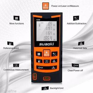 Brand New 60m/197FT Digital Laser Distance Meter Measurer Bedford Bayswater Area Preview