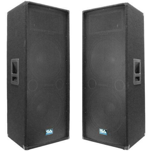 dj speakers 15 ebay
