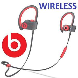 NEW BEATS POWERBEATS2 EARPHONES - 116948468 - ACTIVE WIRELESS BLUETOOTH EARBUDS IN EAR HEADPHONES SIREN RED