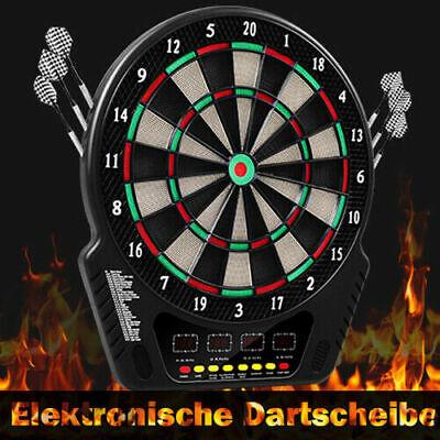 4 LED Schwarz Elektronische Dartscheibe Set Display Spiele Dartpfeile Dartboard