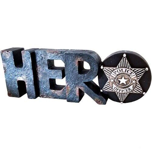 Police Officer Hero Law Enforcement 3D Desktop Sign New 6 x 2 1/2inch