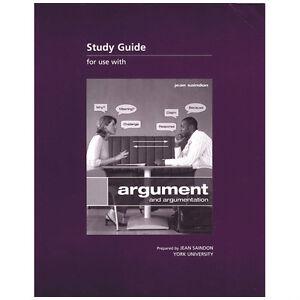 ARGUMENT AND ARGUMENTATION STUDY GUIDE by Jean Saindon