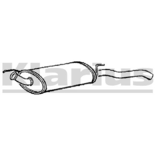 1x KLARIUS OE Quality Replacement Rear / End Silencer Exhaust For RENAULT