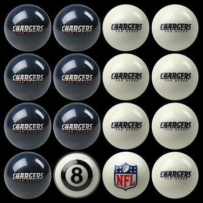 los angeles chargers pool ball billiards balls