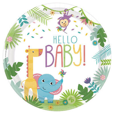 FISHER PRICE Hello Baby EXTRA LARGE PLATES (8)~ Shower Party Supplies Dinner - Fisher Price Baby Shower Party Supplies