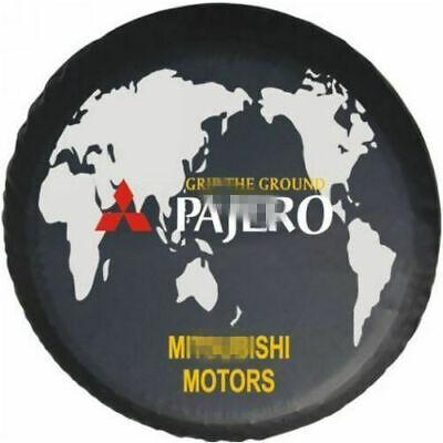 """17/"""" Wheel Spare Tire Cover For Mitsubishi Montero Pajero 4WD Logo Soft Vinyl"""