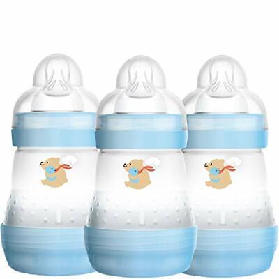 MAM Easy Start Self Sterilising Anti-Colic Baby Bottle 3 Pack, 160 ml with Slow