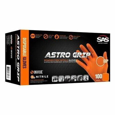 Sas Safety Astro Grip Nitrile Gloves Box Of 100  X-large- Free Shipping