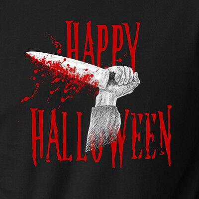 Happy Halloween Horror Movie (HAPPY HALLOWEEN T-Shirt michael myers bloody knife slasher horror)