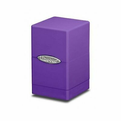 Ultra Pro Satin Tower Deck Box - Purple New (Ultra Pro Mtg Pro Tower Deck Box)
