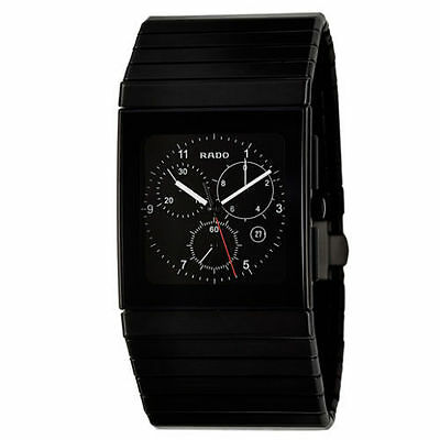 NEW Rado R21715162 Ceramica Men's Black Ceramic Chronograph Watch
