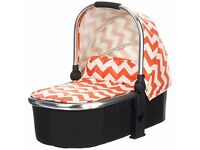 Obaby chase carry cot zigzag orange in exellent condition,nearly new