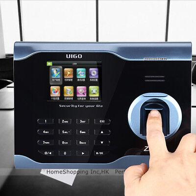 Zk U160 3 Biometric Fingerprint Attendance Time Clock Wifi Tcpip Usb Us