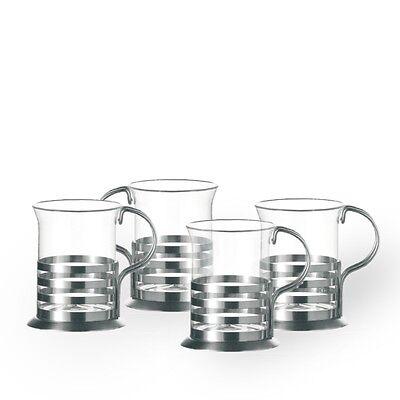 Leonardo 4er Set Teegläser Balance, Teeglas Teetasse Glasteetasse Teeset