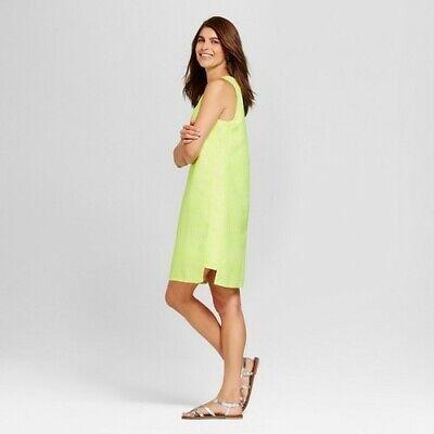 Merona Women's Jacquard summer Shift Dress - Superb Yellow - Size: XXL (J9)