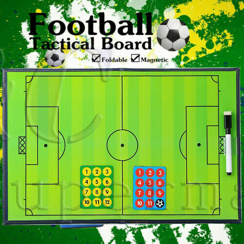 Football Tactics Board Magnetic Foldable Coaching Training Board Double Sided