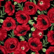 Red Poppy Fabric