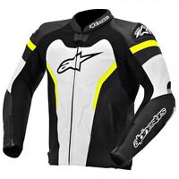 ALPINESTARS GP PRO LEATHER JACKET YELLOW/JAQUETTE DE MOTO