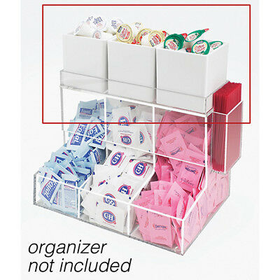 Melamine Organizer Jar For Coffee Condiment Organizers - 4wx4dx4h