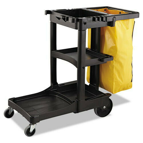 Rubbermaid 21 Gal. Zippered Vinyl Cleaning Cart Bag (Yellow) 6183YEL NEW
