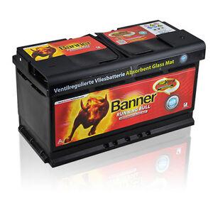 Banner Running Bull AGM 92Ah 12V Autobatterie Start-Stop Caravan - 59201