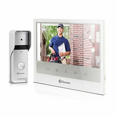 "SWADS DP885C US Expandable Intercom & Video Door Phone W 7"" LCD Monitor WHITE"