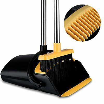 Broom and Dustpan Set for Home Tiumso Dust Pan and Broom Comb Long Handle Bro...