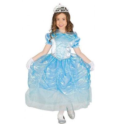 Costume Principessa del Cigno bambina 7-9 Anni vestito cenerentola carnevale