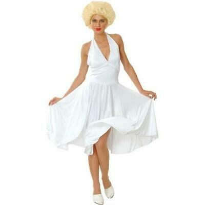 Marilyn Monroe Plus Size Large UK 18-20 Hollywood Star Fancy White Dress - Hollywood Star Fancy Dress Kostüm