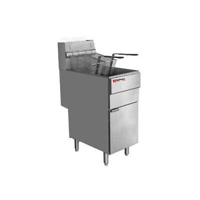 Cecilware Pro FMS504 Four Tube Gas Floor Fryer - 120,000 BTU