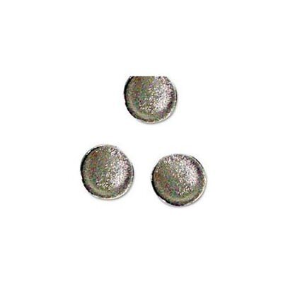 Mastervision Super Strong Magnets - 1 Diameter - Round - 10 Pack - Silver